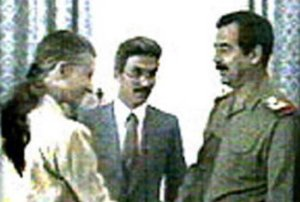 April Glaspie met with Saddam Hussein on July 25, 1990
