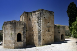 Medieval church ruin in Crete