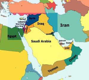 Middle East cold-war-map